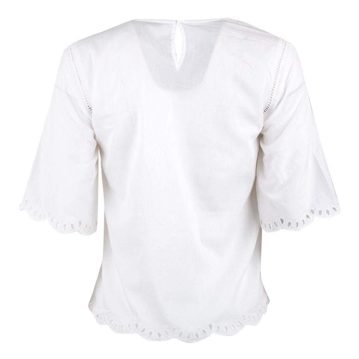 Haut blanc en broderie Femme DDP à prix dégriffé !