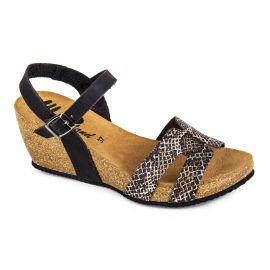 Sandales compensées python Femme WHY LAND