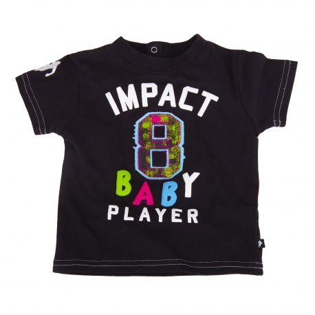 Tee shirt noir manches courtes bébé RUCKFIELD marque pas cher prix dégriffés destockage