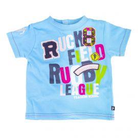 Tee shirt bleu manches courtes bébé RUCKFIELD marque pas cher prix dégriffés destockage