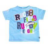 Tee shirt bleu Rugby League bébé RUCKFIELD marque pas cher prix dégriffés destockage
