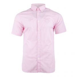 Chemise manches courtes rose à rayures Homme RUCKFIELD