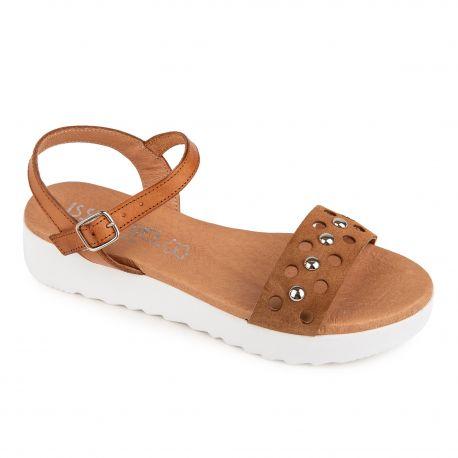 Sandale sabana ser mostaza 5078 cuir Femme ISSA MIEL