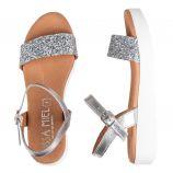 Sandales à paillettes plateforme Femme ISSA MIEL marque pas cher prix dégriffés destockage