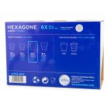 Lot de 6 verres 30cl hexagone Mixte DURALEX
