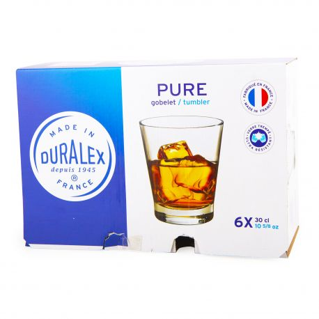 Lot de 6 verres 30cl pure Mixte DURALEX
