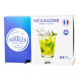 Lot de 6 verres 35cl hexagone Mixte DURALEX