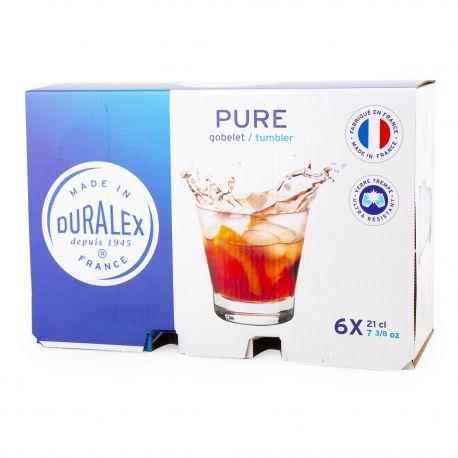Lot de 6 verres 21cl pure  Mixte DURALEX