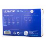 Lot de 6 verres 21cl hexagone  Mixte DURALEX