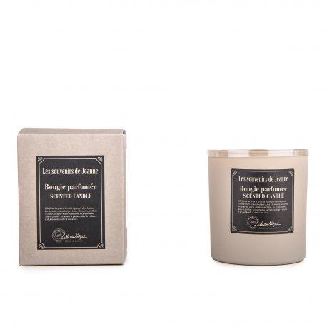 Bougie parfumée patchouli violette 140g Mixte Les souvenirs de Jeanne LOTHANTIQUE marque pas cher prix dégriffés destockage