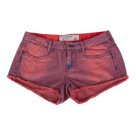 Short en jean rouge Femme BURTON marque pas cher prix dégriffés destockage