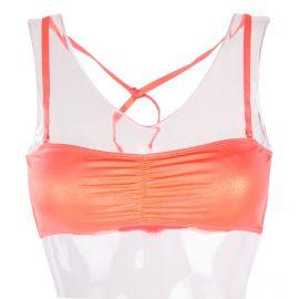Haut de maillot de bain bandeau à rose à paillettes femme Happiz UNDIZ marque pas cher prix dégriffés destockage