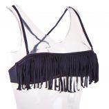 Haut de maillot de bain noir bandeau à franges femme Frangiz UNDIZ marque pas cher prix dégriffés destockage