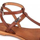 Sandales en cuir noir HILAN femme LES TROPEZIENNES