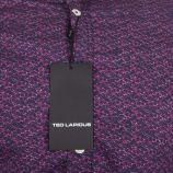 Chemise imprimée violet Slim Fit manches longues Homme TED LAPIDUS marque pas cher prix dégriffés destockage