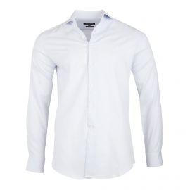 Chemise blanche à pois Slim Fit manches longues Homme TED LAPIDUS