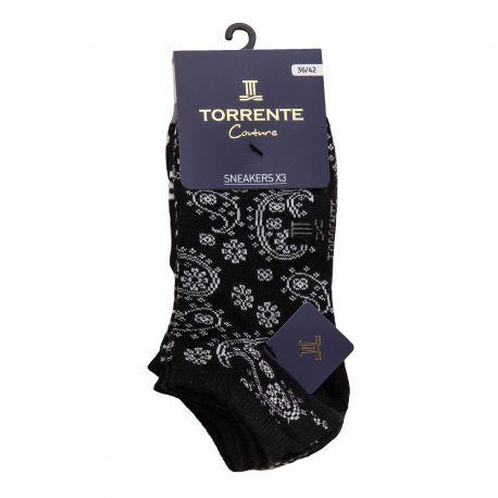 Lot de 3 socquette 05094 (36/42) Femme TORRENTE