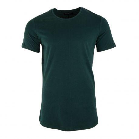 Tee shirt vert manches courtes col rond Homme JACK AND JONES marque pas cher prix dégriffés destockage