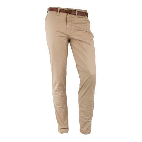 Pantalon beige en coton Homme JACK AND JONES marque pas cher prix dégriffés destockage